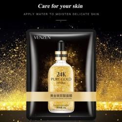 ماسک ورقه ای طلای ونزن VENZEN  مدل 24K | فروش حراج عمده لوازم آرایشی آرایشگاهی ارزان در بازار تهران